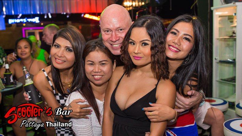 Tourist and 4 thai girls